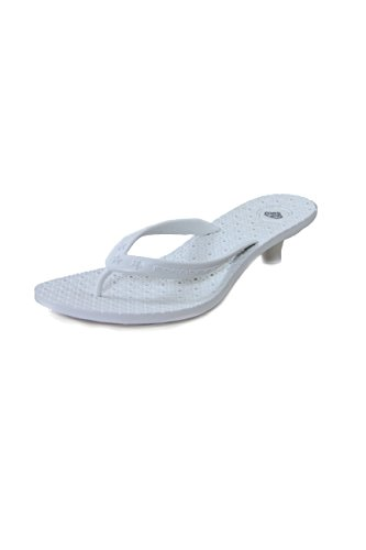 Fornarina Synthetic Flip Flops With Heel (4 cm) PEFMT4152WQ White