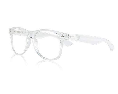 New Wayfarer Plastic Transparent Clear Frame Glasses Sunglasses Chic Glass