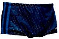 Dolfin Swimwear Men's Solid Dragster - Black/Red, 26