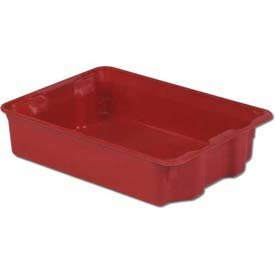 LEWISBins SN2217-6 Plexton Fiberglass Stack-N-Nest Container, 25-5/16 x 18-1/8 x 6-1/8, Red - Lot of 5