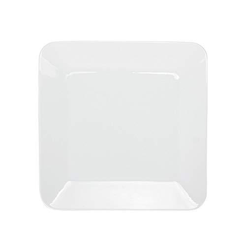 Dinner Plate Pure White - Porlien 10.5-inch Dinner Plates Set, Pure White, Square, Service for 6