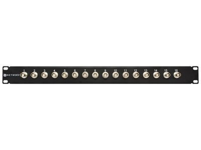 Bnc Patch Panel (Networx 16 Port Fully Loaded BNC Coaxial Patch Panel - 1U)
