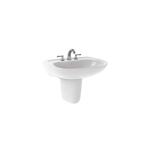 TOTO LHT242G#01 Prominence Lavatory and Shroud with Single Hole, Cotton White