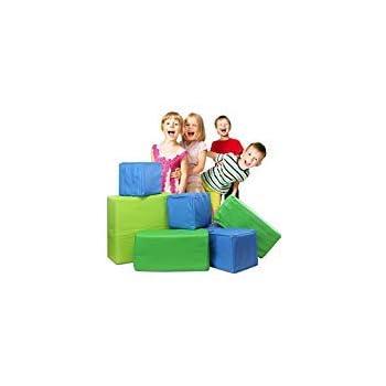 Weizzer Toys Memory Foam Soft Building Jumbo Blocks Set For Kids - 7Piece Bundle
