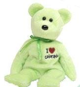TY Beanie Baby - COLORADO the Bear (I Love Colorado - State Exclusive)