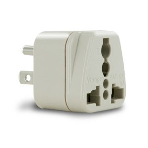 New Travel Smart Grounded Adapter Plug - North/South America, Japan (also for European appliances used in U.S.)