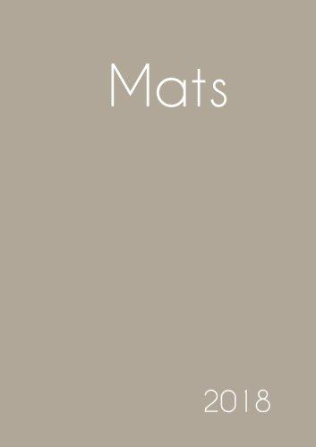 Download 2018: Namenskalender 2018 - Mats - DIN A5 - eine Woche pro Doppelseite (German Edition) PDF