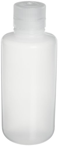 Nalgene 2003-0004 Narrow-Mouth Bottle, LDPE, 125mL (Pack of 12)
