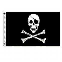 Jolly Roger Pirate Flag with Eye Patch 3 X 5 3x5 Feet New by