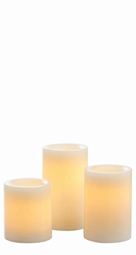 Candle Impressions 3-PACK of Flameless Wax Pillars w/ 5 Hour