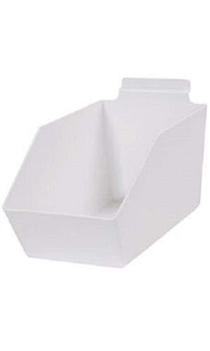"Buy All Store Dump Bins for Slatwall White Set of 10 Plastic Slat Wall Display 6"" x 11 ½"" x 5 -  buyallstore"