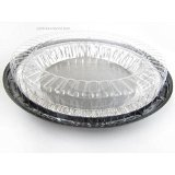 10 Inch Low Dome Plastic Disposable/Reusable Pie Carrier #WJ44 (100)