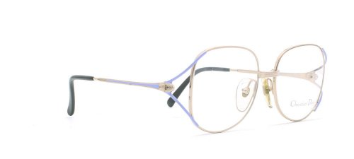 Christian Dior - Monture de lunettes - Femme Or Gold Purple
