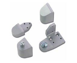 Armalite Style Aluminum Storefront Door Pivot Set - Left Hand - Aluminum (Left Hand Door Hinge)