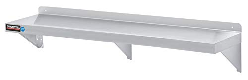 "Stainless Steel Wall Shelf by DuraSteel - 72"" Wide x 12"" Deep Commercial Grade - NSF Approved - Industrial Appliance Equipment (Restaurant, Bar, Home, Kitchen, Laundry, Garage and Utility Room) from DuraSteel"