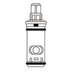 MOEN 1248 Two-Handle Replacement Cartridge, High Flow Rom...
