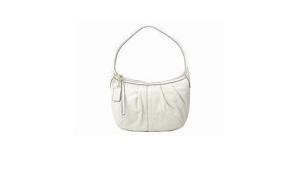 9a63d7909 ... official store amazon coach ergo white leather pleated hobo purse 12235  beauty f3bad f8a09