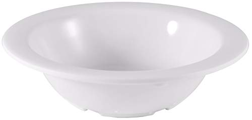 Bowl Ivory Fruit (Classic White Melamine 4 Ounce Fruit Bowl with Pan Scraper, 12-Pack)