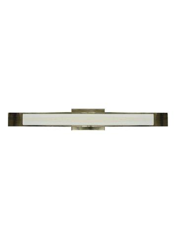 LBL HW496OPBZ2G40, Dover Glass Wall Vanity Lighting, 5 Light Halogen, Bronze