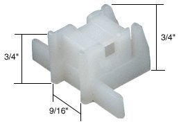 CRL Window Channel Balance Bottom Guide Bulk - 50 Pack by C.R. Laurence by C.R. Laurence