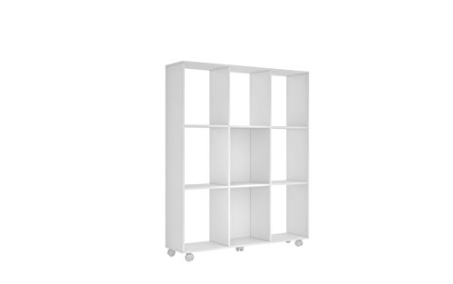 9 cubby storage unit white - 7