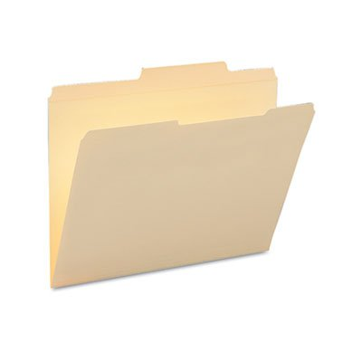 Guide Height Folder, 2/5 Cut Right, Two-Ply Tab, Letter, Manila, 100/Box, Sold as 1 Box