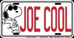 Peanuts - Joe Cool Snoopy License Plate