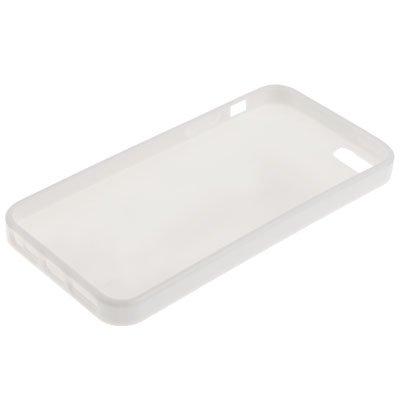 """iPhone 5 / 5S Hülle / Case aus Silikon in weiß / weiss im """"Triangle-Style"""" -Original nur von THESMARTGUARD-"""