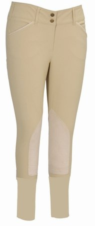 Ladies Cotton Knee Patch Breeches - 7