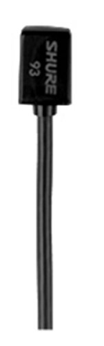Shure WL93-6 Series Subminiature Condenser Lavalier Microphones, WL93-6 Black, with...