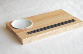 TOSARYU Hinoki Wooden Sushi Serving Board Plate (MINI SUSHI BAR)