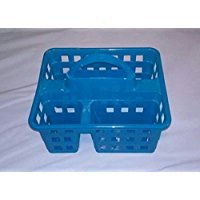 New College Dorm 3 Compartment Shower Caddy- Navy Blue