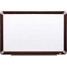 3M Porcelain Dry Erase Board, 72 x 48-Inches, Full Mahogany-Finish Frame ()