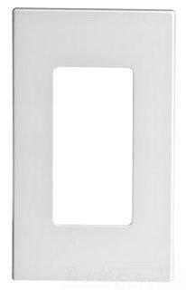 Leviton 80301-SW 1-Gang Decora Plus Wallplate Screwless Snap-On Mount, White, 20-Pack