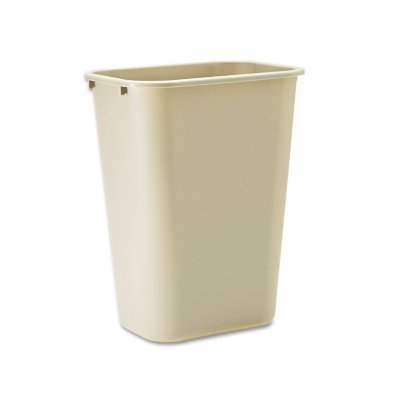 - RUBBERMAID COMMERCIAL PROD 295700BG Deskside Plastic Wastebasket, Rectangular, 10.25gal, Beige