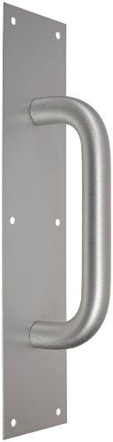 1 Clear Anodized Aluminum Handle (Rockwood 110 X 70B.28 Aluminum Pull Plate, 15