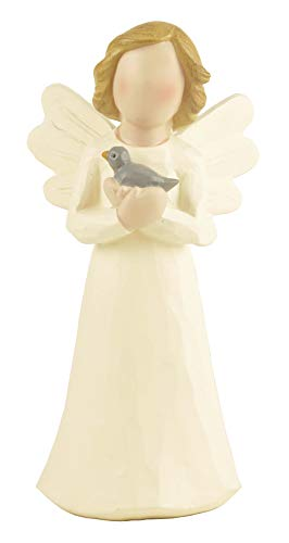 ENNAS Angel with Bluebird Happiness Sculpture Figure Statue for Gifts Home Decoration