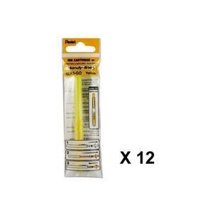 12pcs Pentel SLR3 Handy-line S Highlighter Refills (Box Set) - Yellow (Line Pentel Handy)