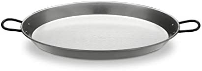 Polished Steel Valencian paella pan 20Inch 50cm 13 Servings