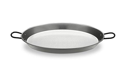 Polished Steel Valenciano paella pan 16.5Inches 42cm 10 servings