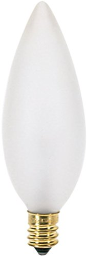 Watt One Candelabra 60 - (25 Pack) Satco S3287 120-Volt 60-Watt B10 Candelabra Base Light Bulb, Frosted