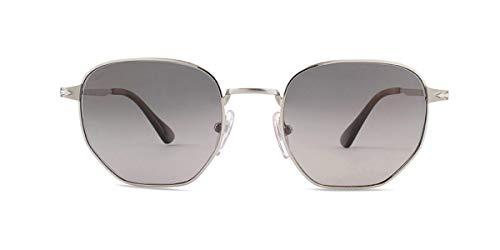 (Persol Men's PO2446S Sunglasses Silver/Grey Gradient Dark Grey Polar 52mm)