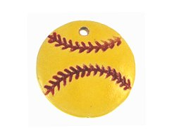 20 Pcs - Softball Pendant - Ceramic - 26mm - Sports Team Pendant - DIY Sports Team Pendants - Sports Beads - DIY Jewelry - NCAA