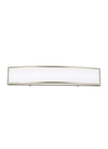 Sea Gull Lighting 4535591S-962 Colusa Medium LED Wall/Bath Vanity Style Lights, Brushed Nickel