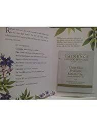 Clear Skin Probiotic Moisturizer By Eminence Organic Skin Care Card Sample Set of 6 Samples Travel Size ()