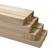 100 Pcs, 3/4'' X 36'' Hardwood Square Dowels by SNS
