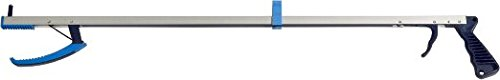 Kinsman KE Deluxe Reacher with Walker Clip, Trigger Handle, 3.5 Jaw & Strong Magnet (27 inches)
