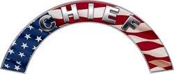 Chief American Flag Firefighter Fire Helmet Arcs / Rocker Decals Reflective
