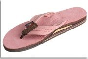 Rainbow Sandals Mens 2 Tone Leather Double Stack, Classic Mocha, XX-Large (12-13.5)
