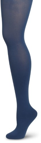 Jessica Simpson Womens Scallop Edge Opaque Tights, Dark Denim, Medium/Tall